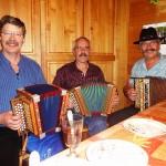 Manfred Rösli und Felix Inderbitzin, Stubete bei Fam. Kari Waldvogel in Oberarth