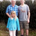Seebi mit den Grosskindern Leandra und Mario