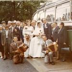 Hochzeit von Agatha Hospenthal - am Schwyzerörgeli Onkel Paul und Vater Josef