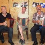 Mit Seebi Schibig und Beni Amrhein am Geburtstagsfest von Marcel Reichlin