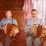 Onkel Seebi mit Hans Gwerder im Rest. Bären, Goldau