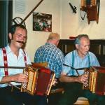 Vater Josef Schmidig & Seebi mit Tobias Betschart am Klavier - Stubete im Rest. Bahnhof, Arth