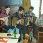 mit Edy vonEw, Albert Marty jun. und sen. im Rest. Bären, Goldau 1982