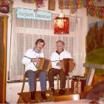 mit Kari Heinzer im Rest. Bahnhöfli Walchwil 1978