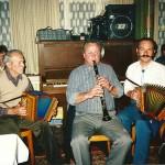 mit Thuri Horat und Vater Josef im Bahnhöfli, Arth 1987
