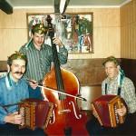 mit Vater Josef und Bruder Beat nach einem Wettspiel 1986